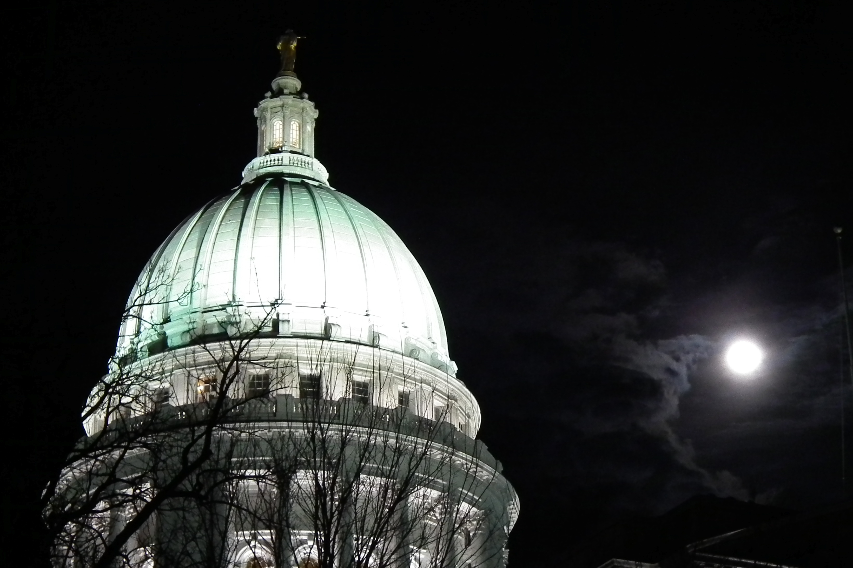 Wisconsin Capitol Dome & Super Moon