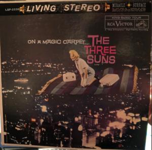 "Three Suns ""On A Magic Carpet"" album cover"