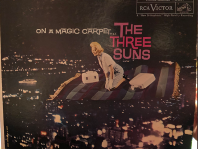 "Three Suns ""On A Magic Carpet"" album cover"