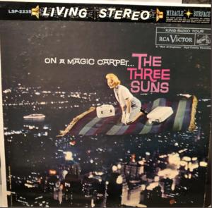 "The Three Suns ""On A Magic Carpet"" album cover"